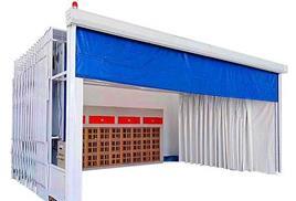 伸缩喷漆房 移动伸缩房 自由伸缩使用方便