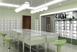 眼鏡柜臺定制廠家山東展柜工廠濟南眼鏡展柜制作飾品展柜產品展柜
